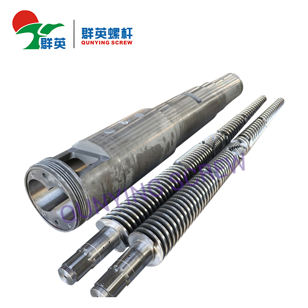 Bimetallic/Nitrided Conical Twin Screw Barrel For Extruder